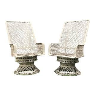 Russell Woodard Fiberglass Spun Captain Chairs - a Pair