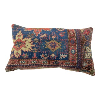 Antique Navy Blue Persian Lumbar Rug Pillow