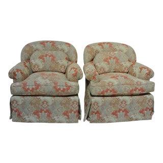 Addison Interiors Tub Shaped Club Chairs - A Pair
