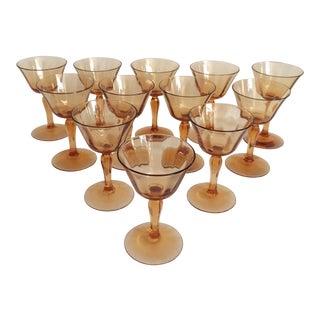Tangerine Cocktail Glasses - Set of 12
