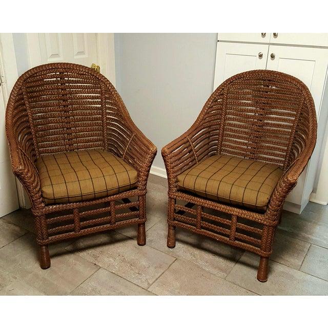 Ralph Lauren Wicker Chair - Image 2 of 6