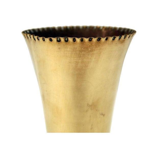 Sculptural Brass Vase - Image 3 of 6