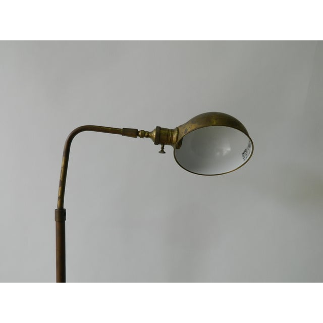 Image of Vintage Brass Dome Floor Lamp