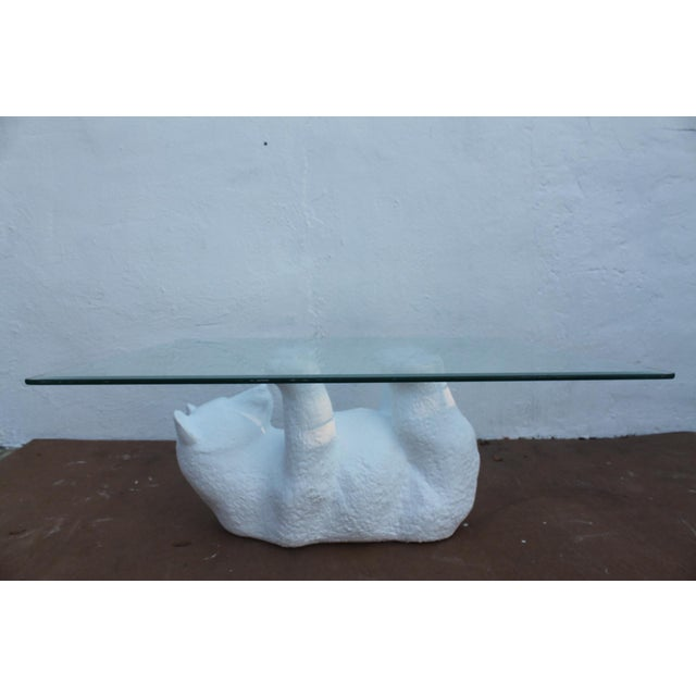 Sculptural Plaster Bear Coffee Table - Image 2 of 8