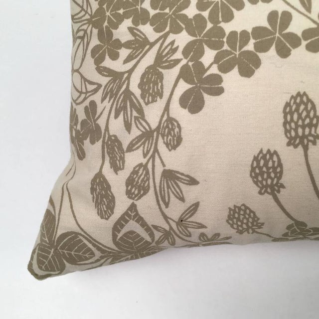 Original Folly Cove Designers Hand Block Printed Clover Pillow - Image 6 of 9