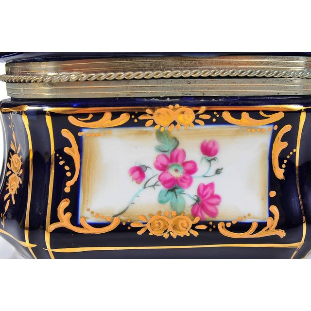 German Painted Porcelain Jewelry Box - Image 6 of 10