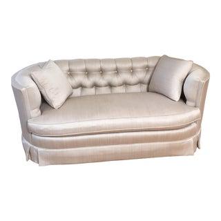 Vintage Mid-Century Silver Love Seat