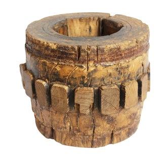 Vintage Mongolian Wood Axel