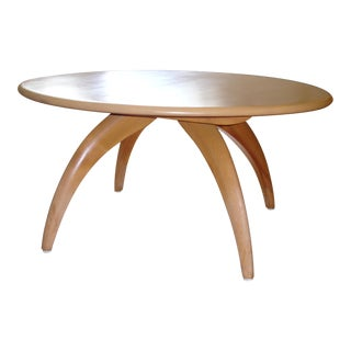 Heywood-Wakefield Round Lazy Susan Coffee Table