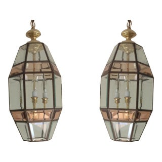 1980s Entry Lantern Lights - A Pair