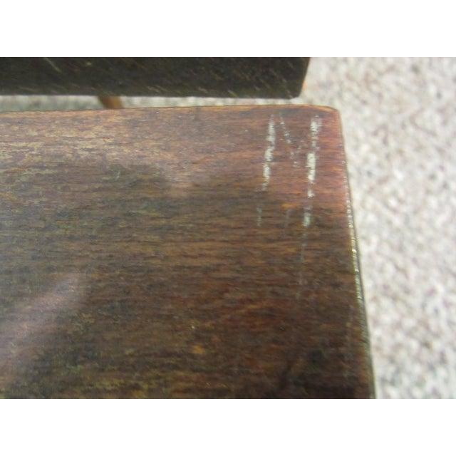 Danish Modern Walnut Slat Bench Coffee Table - Image 8 of 11