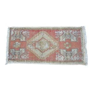 Antique Turkish Handmade Rug - 3′ × 3′10″