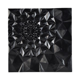 Black Geometric 3D Wall Sculpture
