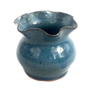 Mini Handmade Blue Clay Vase