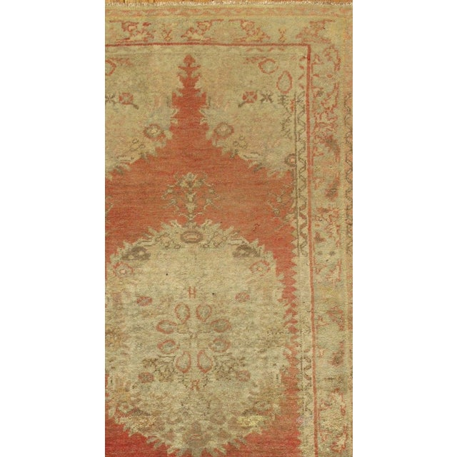 "Vintage Turkish Oushak Rug - 3'2"" x 6'4"" - Image 3 of 3"