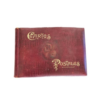 French Cartes Postales Leather Book