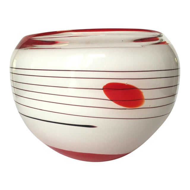 Image of Mid-Century Blown Glass Bowl