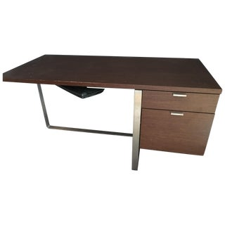 Modern Wood and Stainless Steel Desk