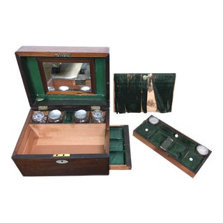 Victorian Gentleman's Traveling Dressing Table Set