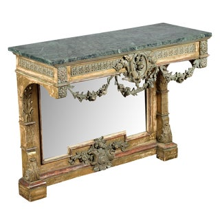 19th-Century French Marble Top Console