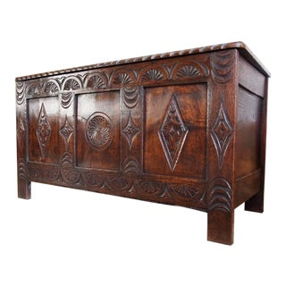 Antique Oak Coffer Chest