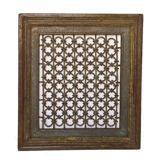 Antique Wrought Iron Window Grill Frame