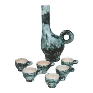Ceramic Tea or Saki Set by Jacques Blin