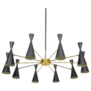 Studio Machina Architectural Monolith Enamel & Brass Chandelier