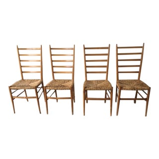 Ponti Style Ladder Back Chairs - Set of 4