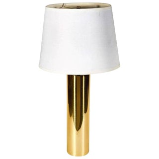 1970s George Kovacs Brass Cylindrical Table Lamp