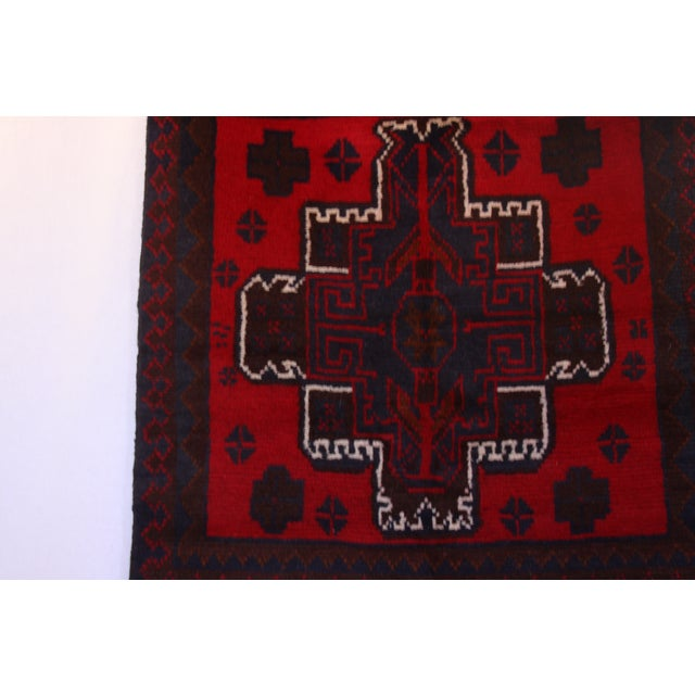 Handknotted Wool Balouch Persian Rug - 2′8″ × 4′7″ - Image 3 of 11