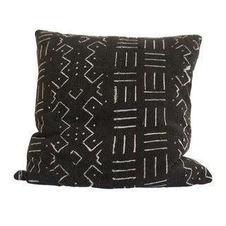 Vintage African Black Mudcloth Pillow - Larson