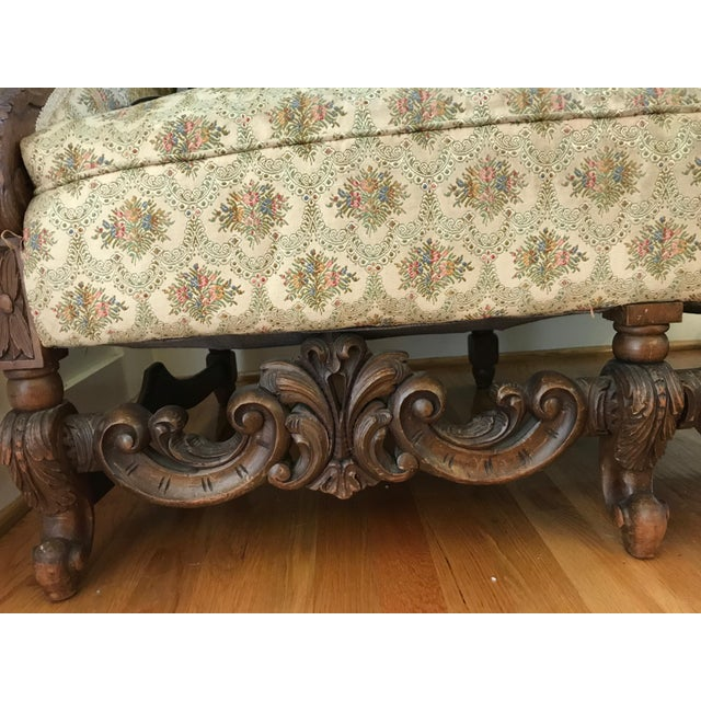 Antique Scottish Carved Settee - Image 9 of 9