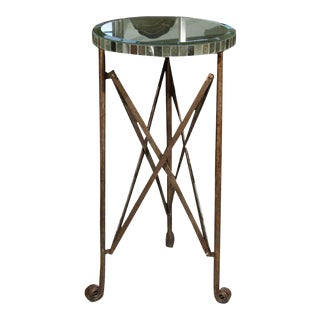 Mirror Top Metal Stand