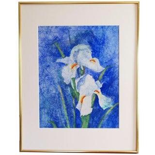 Asian-Style Watercolor Iris
