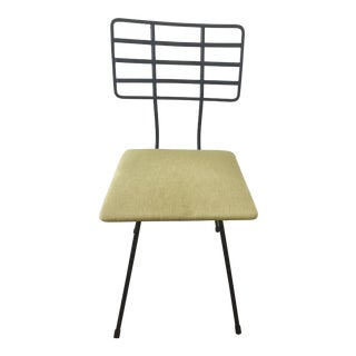 Mid-Century Modern Black Wrought Iron Metal Chair