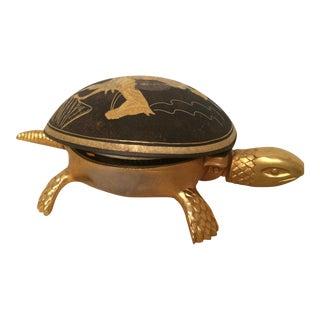 Brass Turtle Hotel Desk Bell