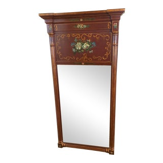 Maitland-Smith Floral Painted Mirror