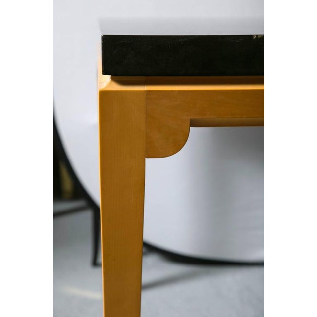 Tommi Parzinger Inlaid Mahogany Dining Table - Image 4 of 9