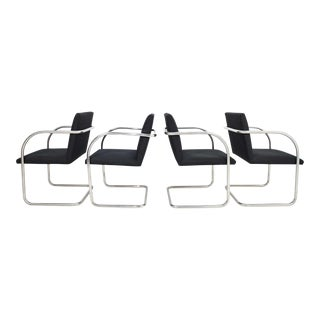 Set of Four Mies Van Der Rohe Tubular Brno Chairs by Knoll