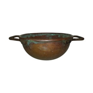 Antique Vintage Copper Cauldron for Candy Making