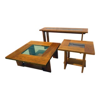 Lane Mid-Century Modern Tables - Set of 3