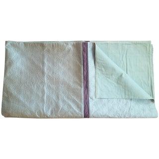 Silk Quilt Coverlet, Queen Size