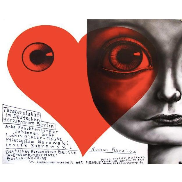Image of Contemporary Polish Berlin Theaterplakat Poster