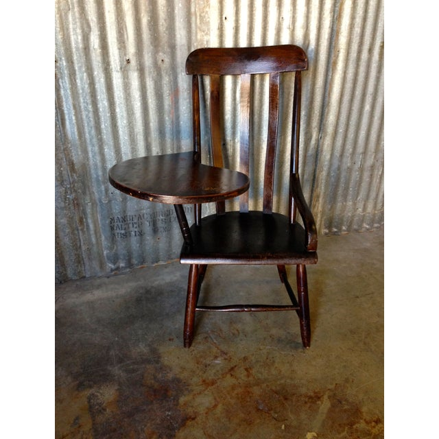 Early New England Windsor Writing Chair - Image 3 of 9