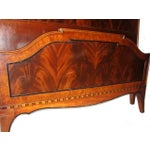 Image of Twin Mahogany Flame Headboards - A Pair