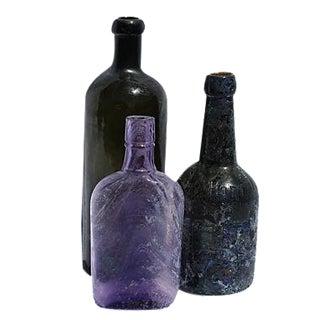 Antique 1800 Bottle Vases - Set of 3
