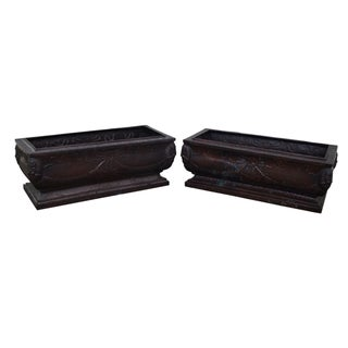 Maitland-Smith Bronze Planters - A Pair