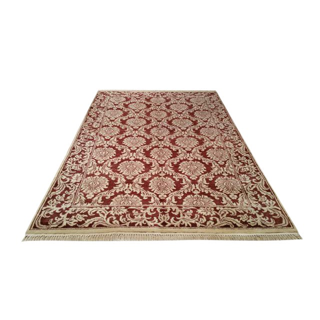 Traditional Hand Made Knotted Rug - 6x9 - Image 1 of 4