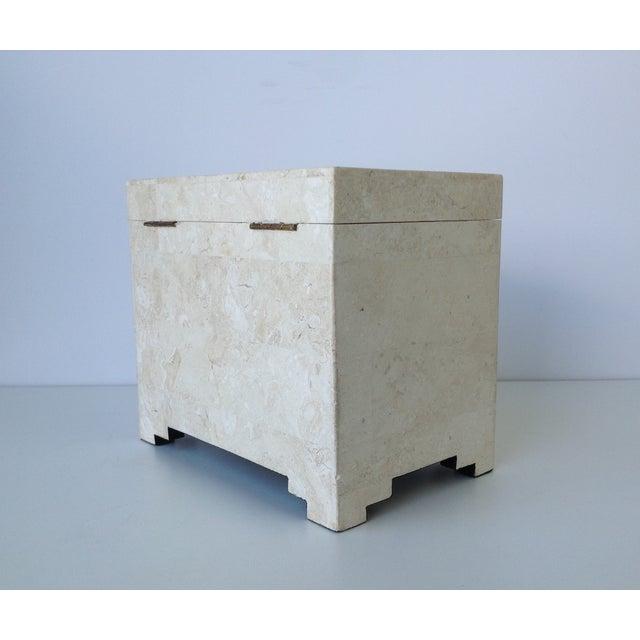 Maitland-Smith Vintage 1970s Tessellated Stone Box - Image 5 of 11